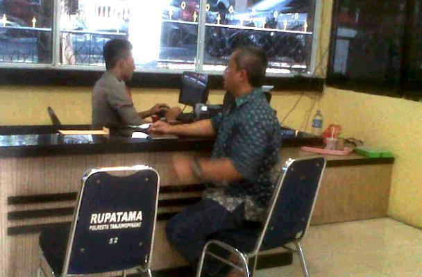 Andi Cori Buat laporan ke Polres Tanjungpinang