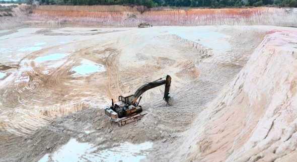 Lokasi tambang pasir di Kabupaten Bintan