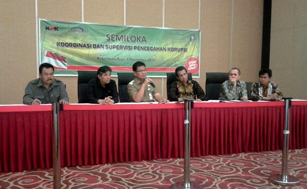 Pjb Gubernur Kepri Agung Mulyana didampingi Deputi KPK dan Kejati