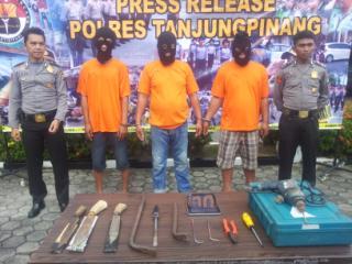 Tiga Pelaku Curat di Tanjungpinang