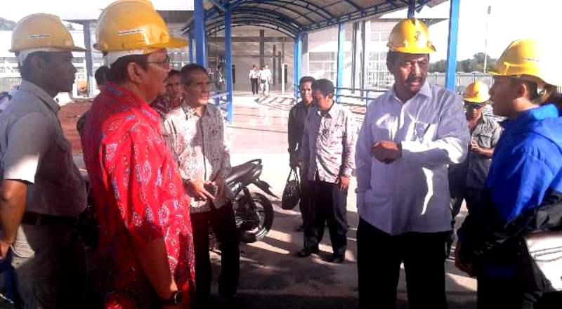 Wagub Kepri Nurdin Basirun Melihat Kondisi Pelabuhan Internasioanal Dompak